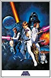 """Star Wars """"A New Hope One Sheet"""" Maxi Poster, Multi-Colour"""