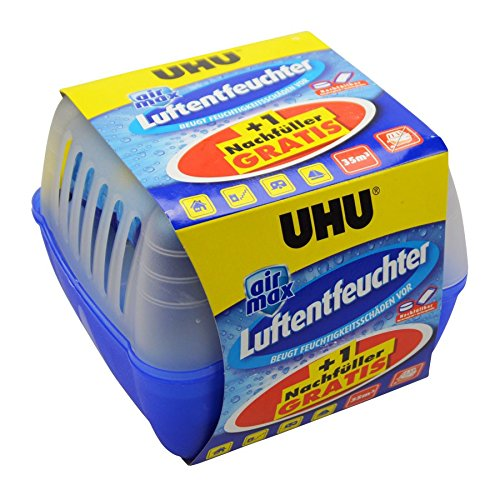 UHU Luftentfeuchter Box 2x450g Granulat Raumentfeuchter Lufttrockner Entfeuchter
