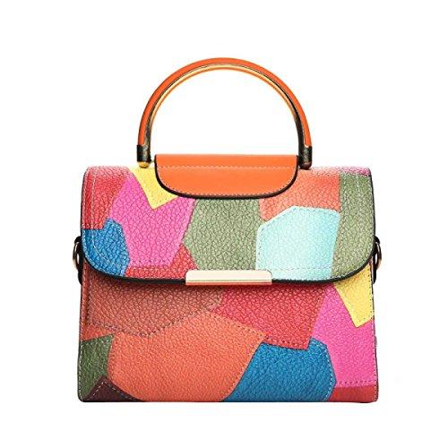 Damenmode Handtasche Einfache Schultertasche Orange