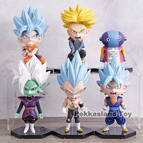 Set mit 6 Figuren Dragon Ball DBZ DBS DB GT PVC Figuren Goku Trunks Zeno Zamasu Vegeta Größe 8-12 cm - Db-trunk