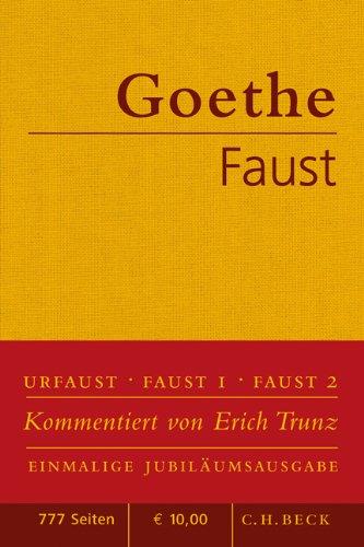 Buchcover Faust: Der Tragödie erster und zweiter Teil. Urfaust