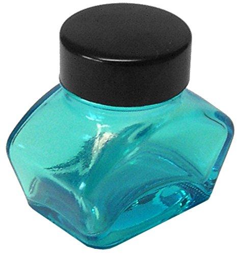 Tintenglas 30 ml leer, blau