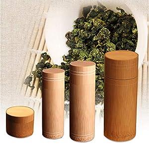 szseven Boîte à thé en Bambou Pur - Boîte de Rangement pour thé - Boîte à thé scellée - Idéal pour Les Voyages et la Maison