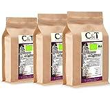 C&T Bio Espresso Crema | Cafe entkoffeiniert 100% Arabica 3x1000 g ganze Bohnen Gastro-Sparpack im Kraftpapierbeutel