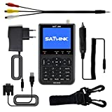 Sat-finder SATLINK DVB-S Rilevatore di Segnale Satellitare Digitale FTA Misuratore Satellitare con 3,5'' LCD Display (WS-6906)