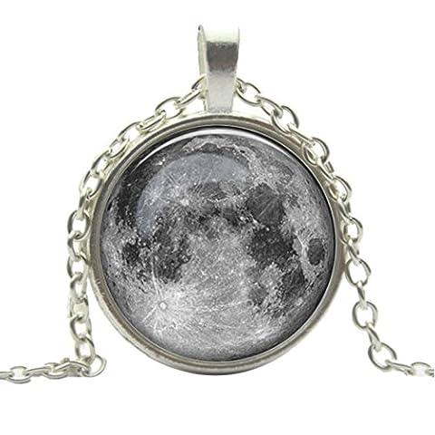 DDLBiz® Vollmond-Mond-Raum-Galaxie-Halsketten-Strickjacke-Kette
