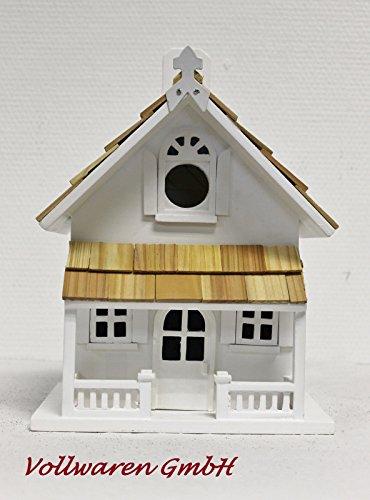 VIKTORIANISCHE VOGELVILLA KELLY Nistkasten Holz weiss + Holzschindeln Vogelhaus - 2
