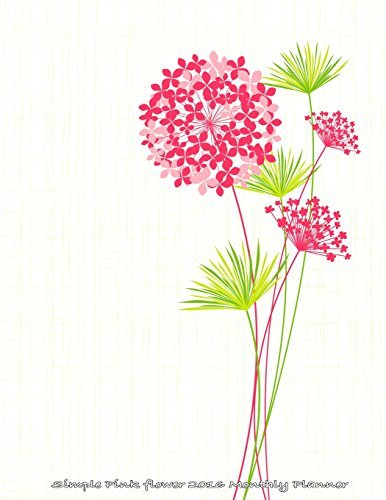 Simple Pink Flower 2016 Monthly Planner by Laura's Cute Planners (2015-09-25) (Pink Monthly Planner 2015)