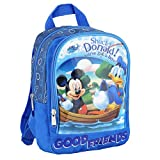 Mickey Mouse & Donald | Kinder Rucksack blau | 25 x 23 x 10 cm | Micky Maus