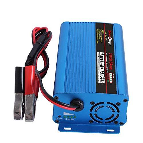 Tesure Automatisches Batterie Ladegerät 24V 5Amp mit XLR Verbindungsstück für Auto Roller Rollstuhl Motorrad eBike 5 Ah Sla-batterie
