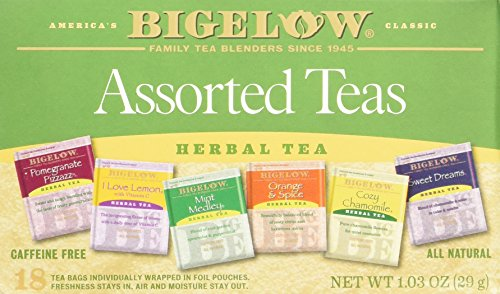 Bigelow 6 Assorted Herbal Teas, 18 Count
