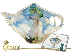 Sachets assiette-claude monet femme avec parasol