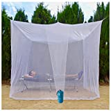 EVEN NATURALS MOSKITONETZ Doppelbett, großes Mückennetz für Bett, feinste Löcher, rechteckiger Netzvorhang Reise, Insektenschutz, 2 Einträge, einfache Anbringung, Tragetasche, Keine Chemikalien