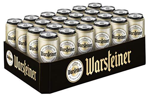 Warsteiner Premium Pilsener Dosenbier, Internationales Bier nach deutschem Reinheitsgebot, EINWEG (24 x 0,5 Liter)