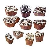Royal Kraft Ceramiche Stampa Timbro Asiatico Piccolo Animale Insetto Disegno Legno Blocchi (Set di 10)