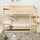 mecor Bunk Beds Triple Bed Frame Wooden Sleeper for Children Adults