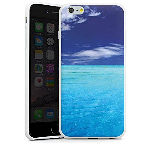 Apple iPhone X Silikon Hülle Case Schutzhülle Karibik Meer Segelboot Silikon Case weiß