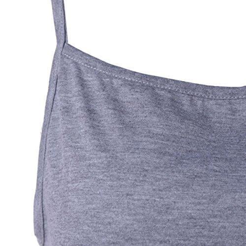 QIFEI@Femmes pantalons siamois / 2017 nouvelles femmes européennes et américaines bretelles pantalon décontracté Grey