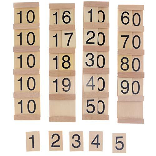 Legen Holzplatte Zählnummer Maths Vorschulkinder Pädagogisches Spielzeug