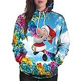 TWBB Damen Mantel,Winter Outwear Weihnachtsmann Drucken Slim-Fit Pullover Sweatshirt Outwear