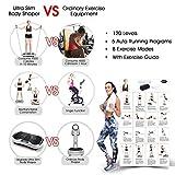 SVNA Vibrationsgeräte Fitness-Vibrationsplattform 120-Gang-Magnet-Massage Drahtlose Bluetooth-Stummschaltung für Massageübungen,White - 7