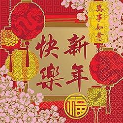 CHINESE NEW YEAR 16 FILMPOSTER, GUTE WÜNSCHE ODER SERVIETTEN PAPIERSERVIETTEN