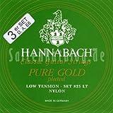 Hannabach Cuerdas para guitarra cl?sica, Serie 825 Low tension Dorado especial