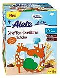 Alete Giraffen-Grießbrei Schoko, 4er Pack (4 x 380 g)