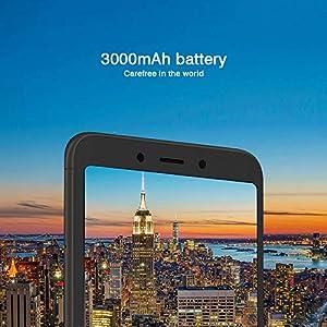 "Xiaomi Redmi 6A Smartphones 5.45"" Pantalla Full HD 2GB RAM + 16GB ROM Procesador Quad-core de 12 nm, 5MP delantero y 13MP cámara trasera, Doble ranura para tarjeta SIM + MicroSD (Negro)"