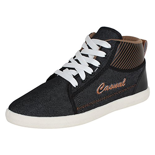 Bersache Men's Grey Canvas Sneakers Shoes (Casual Shoes) (7 UK)  available at amazon for Rs.198