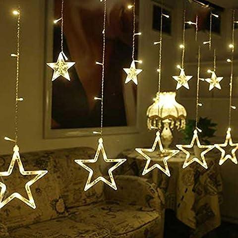 4M Stars Design LED Wasserschützer Grob Stern Lichterkette für Party