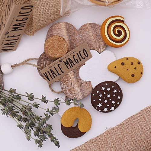 Vialemagico bomboniere compleanno dolci biscotti calamite fai da te kit 12 pezzi (1017m)