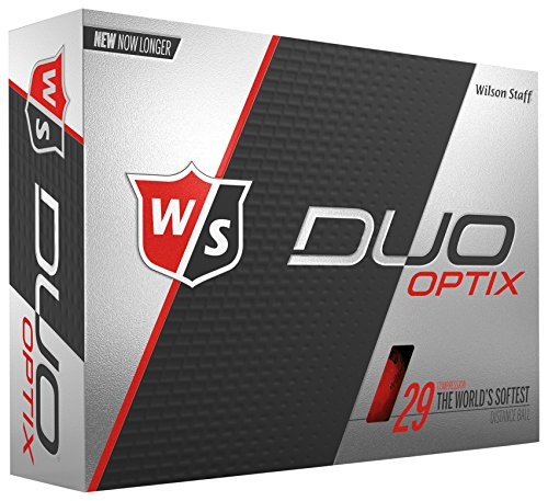 Wilson Staff Duo Soft, Herren, Duo Soft Optix - Red, rot, Einheitsgröße (Wilson Duo Golfbälle)