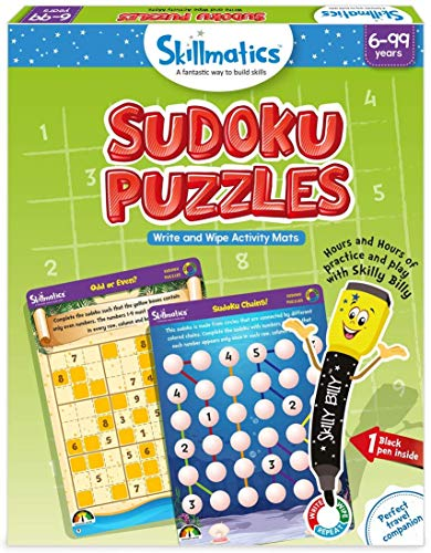 Skillmatics Sudoku Puzzles (6-99 Years)   Erasable and Reusable Mats   Fun Learning Games on The Go Kids