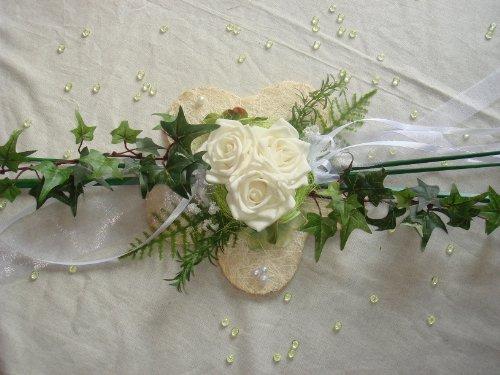 unser schönster Tag Tischdekoration großer Aufleger creme zur Hochzeit Tischdeko TD0036