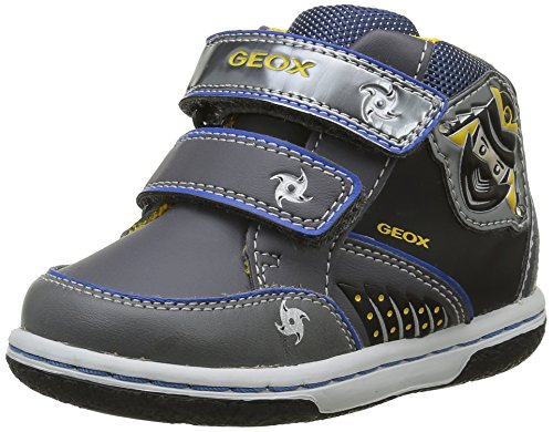 Geox Baby Jungen B Flick Boy D Sneaker, Grau (Dk Grey/ROYALC0071), 22 EU
