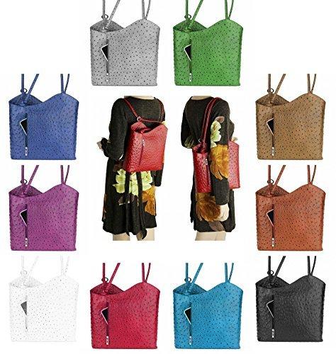 OBC Sac en cuir Bouquet Impression Croco Sac Pour Femmes 2in1 Sac à main Sac à dos Sac À Bandoulière Sac à anses Comprimé/Ipad env. 10-12 Pouces 27x29x8 cm (LxHxP)