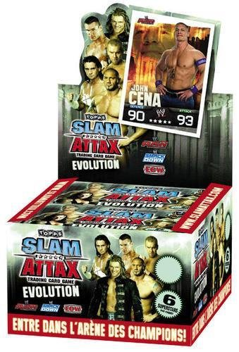 WWE Slam Attax TCG - Evolution - Booster Display (50 Tüten) - Wwe-ausrüstung
