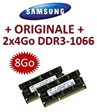 8 GB Speicher – Dual-Channel Kit Samsung original 2 x 4 GB 204 pin DDR3 – 1066 PC3 – 8500 DIMM (2 x m471b5273bh1-cf8) Laptops, Computer, DDR3 Speicher + Apple MacBook + MacBook Pro + iMac + MAC MINI (2009/2010)