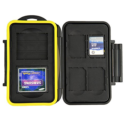 JJC wasserabweisend Memory Card Case für 2x CompactFlash und 4x SD/SDHC/SDXC Karten