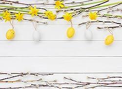 """Tischsets I Platzsets - Ostern - """"Schönes Osterarrangement mit Mini-Eiern"""" - 12 Stück in hochwertiger Aufbewahrungsmappe"""