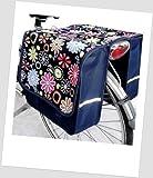 T-JOY-17 Fahrradtasche JOY Flower navy Kinderfahrradtasche Satteltasche Gepäckträgertasche 2 x 5 Liter KINDER