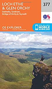 OS Explorer Map (377) Loch Etive and Glen Orchy (OS Explorer Paper Map) (OS Explorer Active Map)