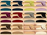Kettelservice-Metzker® Stufenmatten Pegasus Halbrund | in vielen Set Varianten | 65x24x4cm | Creme Weiss 14 Stück