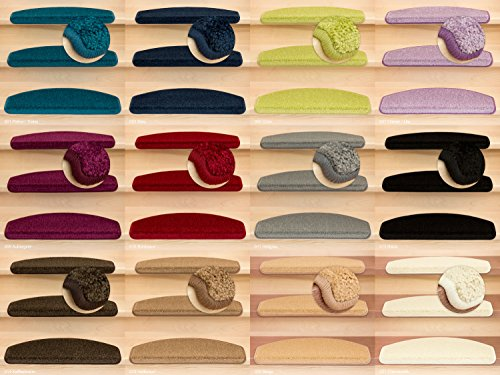 Kettelservice-Metzker® Stufenmatten Pegasus Halbrund   in vielen Set Varianten   65x24x4cm   Creme Weiss 15 Stück