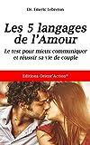 test des 5 langages de l amour mieux communiquer pour r?ussir votre vie de couple