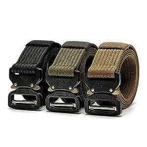 CHOUBAGUAI Taktischer Gürtel Hochleistungsgürtel Tactical Gear Nylon Metallschnalle Swat Patrol Taillengürtel Tactical Hunting Zubehör