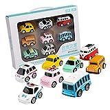perfeclan Conjunto de 8 Modelos de Coche en Miniatura, Juguete de Vehículos Colección de Autos Adorno de Escritor