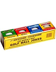 Awesome Pack of 4 Assorted Trick Novelty Gag Golf Balls by Novelties company