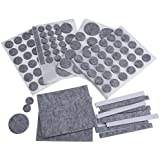 NUOLUX 132pcs Filz Pads für Möbel Floor Protector (grau)